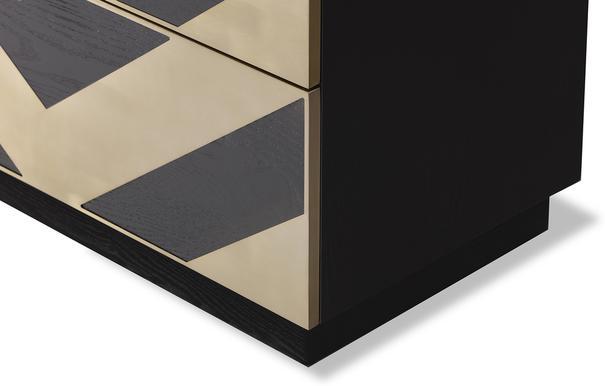 Unma Chest of Drawers Black and Metallic Retro Chevrons image 4