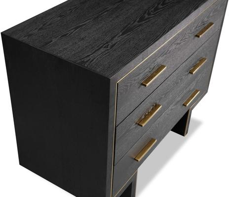 Tigur Chest Of 3 Drawers Black Ash or Brown image 8