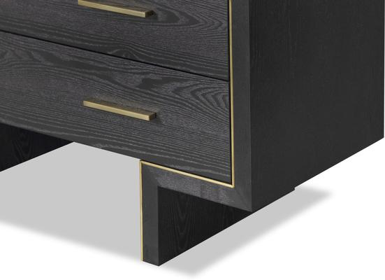 Tigur Chest Of 3 Drawers Black Ash or Brown image 9