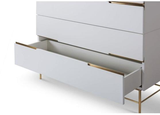 Alberto Four Drawer Wide Chest Matt White or Grey image 21