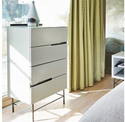 Alberto Four Drawer Narrow Chest Matt White or Grey image 11