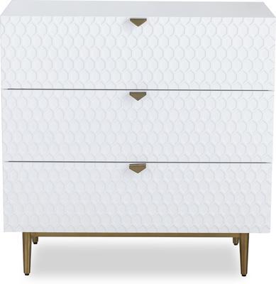 Bolero Chest Of 3 Drawers White or Grey image 2