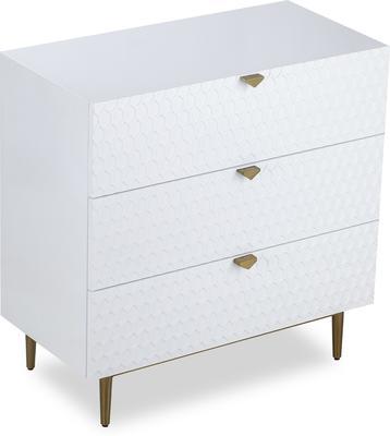 Bolero Chest Of 3 Drawers White or Grey image 3