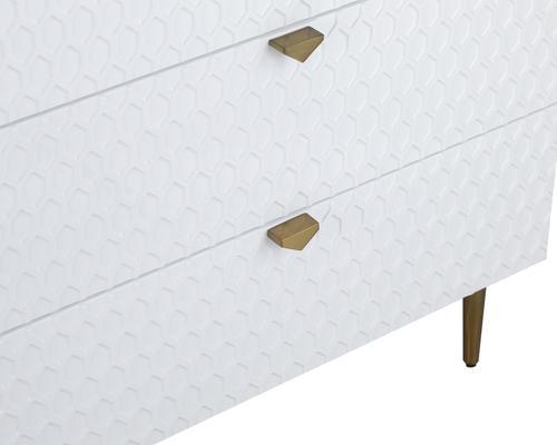 Bolero Chest Of 3 Drawers White or Grey image 5