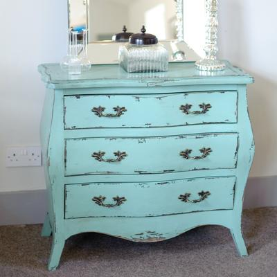 Etienne Aqua Blue 3 Drawer Chest of Drawers image 2