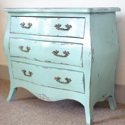 Etienne Aqua Blue 3 Drawer Chest of Drawers image 4