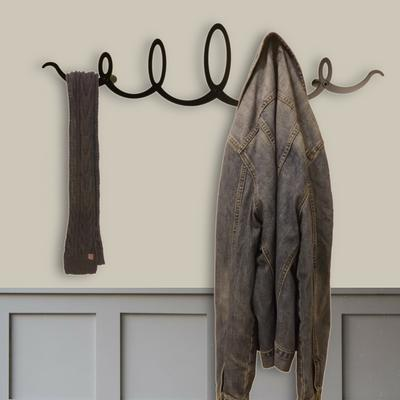 The Squiggle Metal Coat Rack - Black