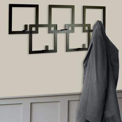 The Square Metal Coat Rack - Black