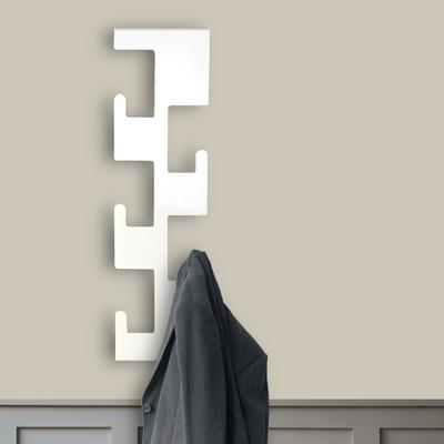 Retro Vertical Metal Coat Rack - White
