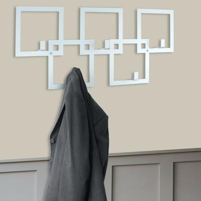 The Square Metal Coat Rack - White