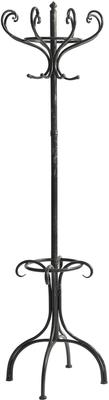 Black Metal Coat Stand Traditional Distressed Design