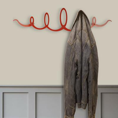The Squiggle Metal Coat Rack - Red