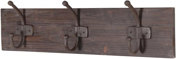 Distressed Three Hook Coat Rack