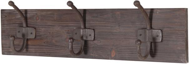 Distressed Three Hook Coat Rack