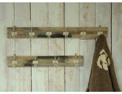 Industrial Vintage Wooden Six Hook Wall Plaque - Red image 4