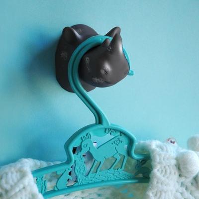 Rhino Coat Hook - Grey image 3