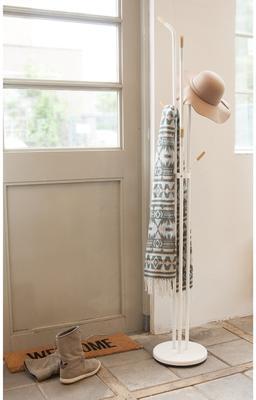 Leitmotiv Fusion Coat Rack - White Floor Standing image 3