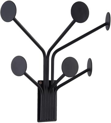 Present Time Wall Dots Coat Hanger - Black image 2