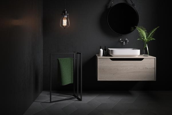 Clubber Mini Towel Stand - Black Matt finish image 2