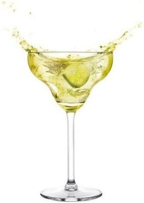 Set Of 6 Luxurious Margarita Glasses Diamond 300ml image 3