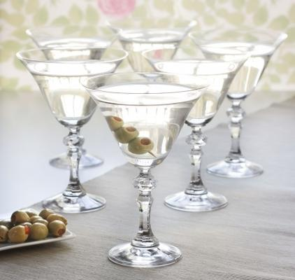 6 x Vintage Martini Cocktail Glasses
