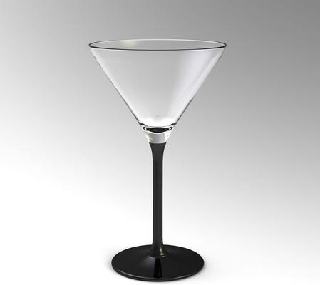 4 x Black Stem Cocktail Martini 260ml Glasses image 3