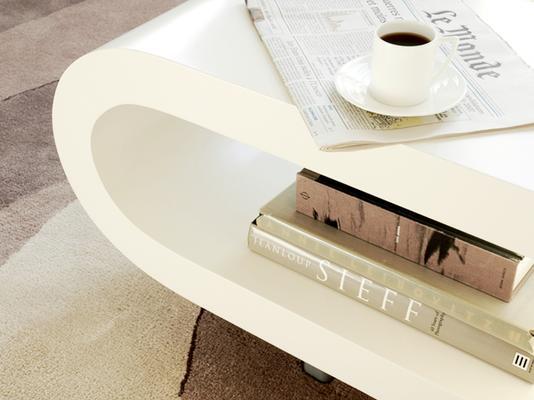 Loopy Retro Coffee Table - Matt White image 3