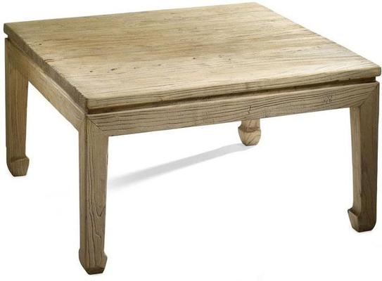 Reclaimed Elm Wood Square Coffee Table