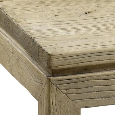 Reclaimed Elm Wood Square Coffee Table image 3