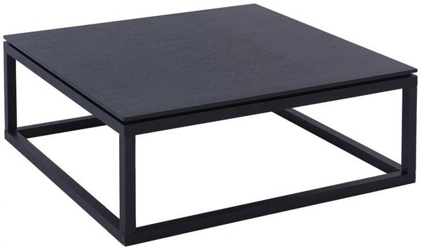 Cordoba Square Coffee Table Black Wenge 90cm