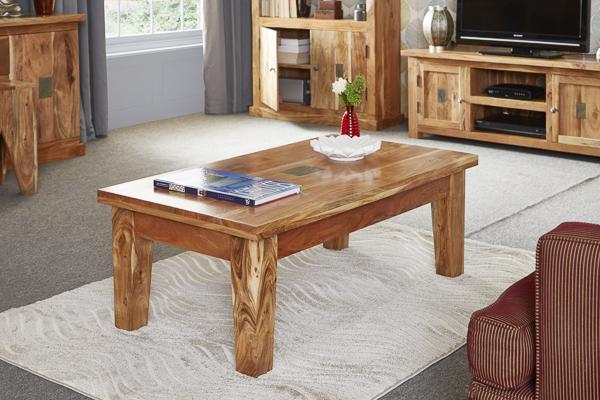 Slate and Acacia Coffee Table