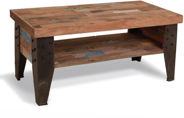 Brooklyn Industrial Coffee Table With Shelf