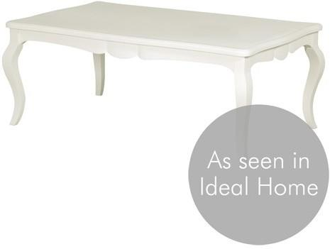 Simple Chic French Coffee Table White