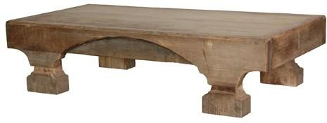 Rustic Ethnic Coffee Table Elm and Pine