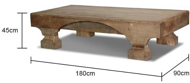 Rustic Ethnic Coffee Table Elm and Pine image 2