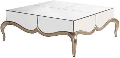 Contemporary Venetian Coffee Table with Mirrored Top