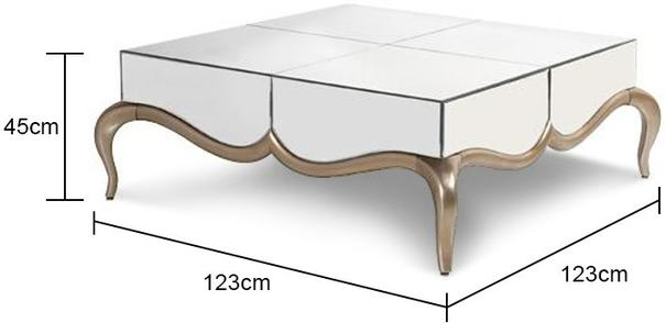 Contemporary Venetian Coffee Table with Mirrored Top image 2