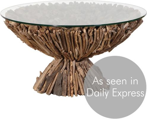 Circular Driftwood Coffee Table