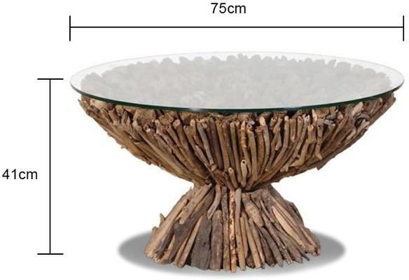 Circular Driftwood Coffee Table image 3