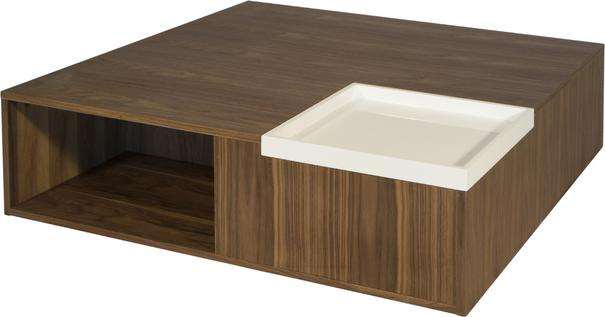 Mistic Contemporary Walnut/White Gloss CoffeeTable image 2