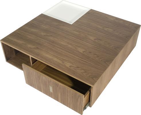 Soho Contemporary Walnut/White Gloss Coffee Table image 3