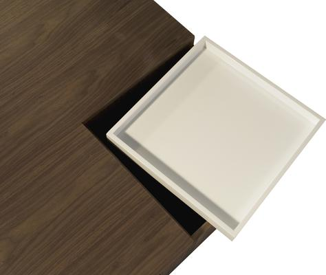 Mistic Contemporary Walnut/White Gloss CoffeeTable image 4