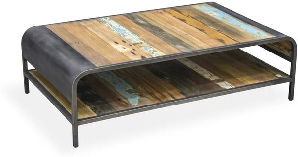 Brooklyn Finest Industrial Coffee Table With Shelf