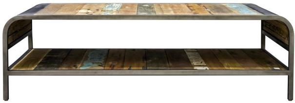 Brooklyn Finest Industrial Coffee Table With Shelf image 2