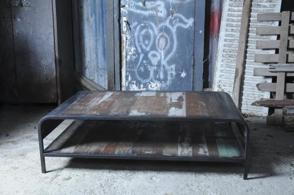 Brooklyn Finest Industrial Coffee Table With Shelf image 9