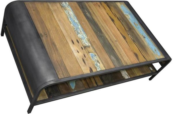 Brooklyn Finest Industrial Coffee Table With Shelf image 5
