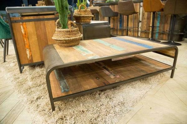 Brooklyn Finest Industrial Coffee Table With Shelf image 8
