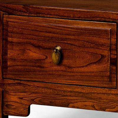 Three Drawer Kang Table, Warm Elm image 2