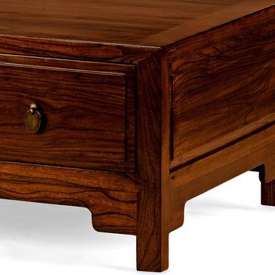 Three Drawer Kang Table, Warm Elm image 3