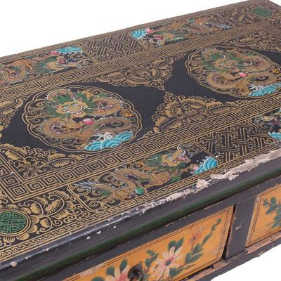 Painted Two Drawer Gansu Table image 3